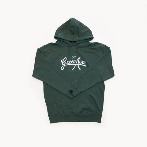 Green Acre Embroidered Logo Hoodie - Green