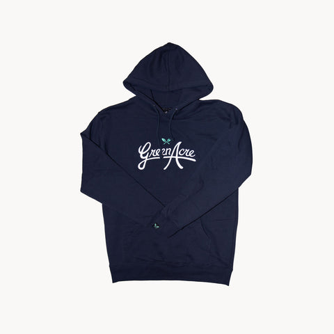Puff Embroidered Logo Hoodie - Navy