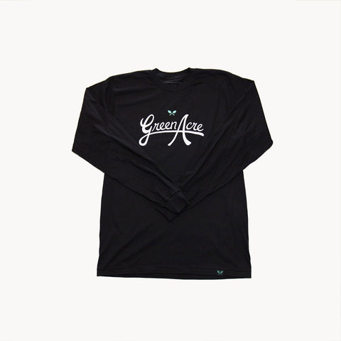 Green Acre Logo L/S Tee - Black