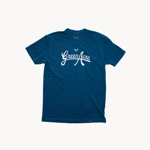 Green Acre Logo Tee - Blue