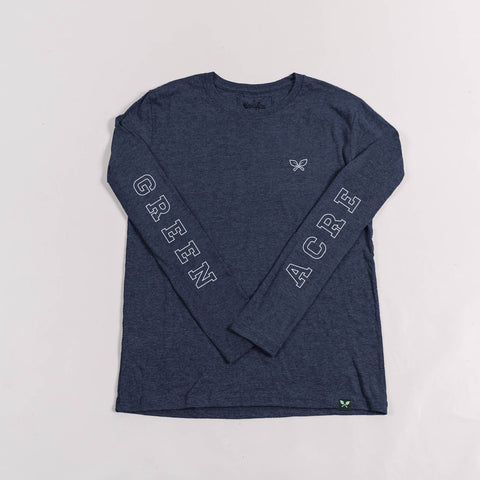 Outline L/S Tee - Navy Blue