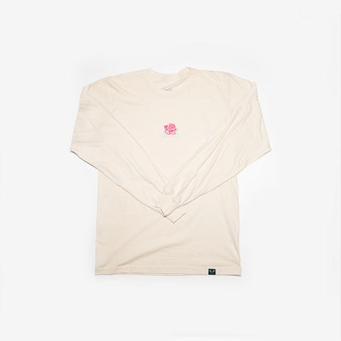Concrete Rose L/S Tee - Cream