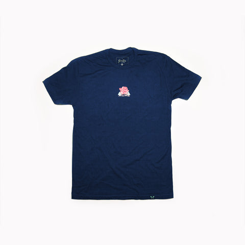 Concrete Rose Tee - Navy