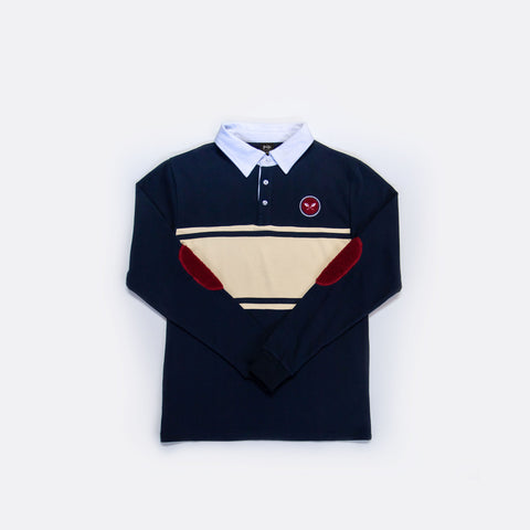 Sprout Rugby Shirt - Navy Blue/Tan