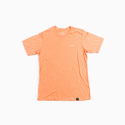 Script Tee - Light Orange