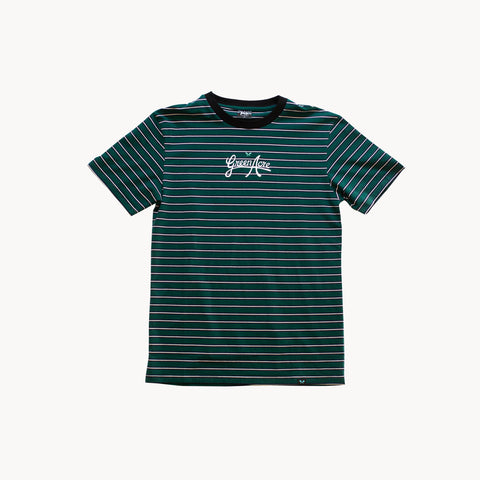 Green Acre Stripe Tee - Green/Black