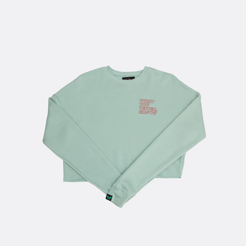 What You Water, Grows Crop Sweater - Dusty Blue