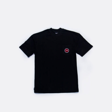 Sprout French Terry Mock Neck Pocket Tee - Black