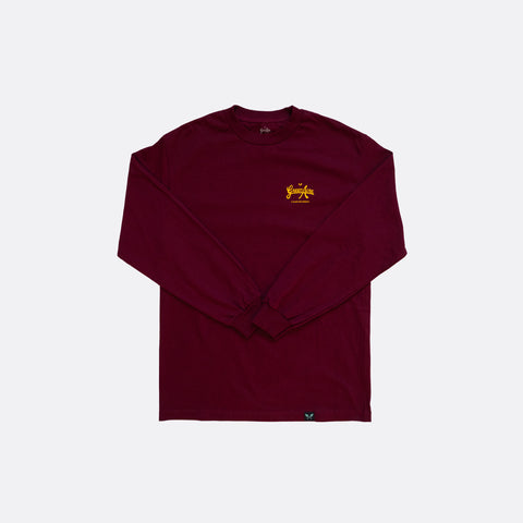 Green Acre Logo L/S Tee - Burgundy