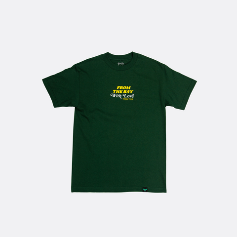 From The Bay With Love Tee - Forest Green