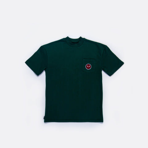 Sprout French Terry Mock Neck Pocket Tee - Green
