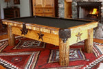 Drawknife Lone Star Billiard Table in room