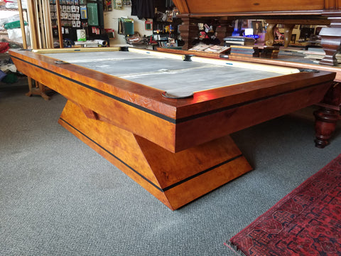 "MODERN RUSTIC  ""BURLED OLD WORLD CHERRY"" 8 FT POOL TABLE By Adler"