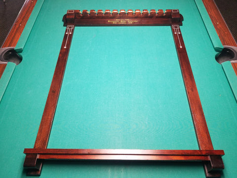 Historic Cue rack from Cohrans Billiards
