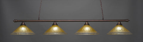 Toltec Oxford Bronze 4 Lights Amber Crystal 374-BRZ-710