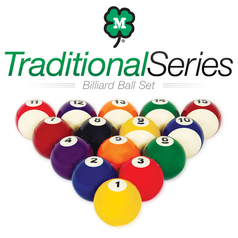 McDermott Traditional Series Billiard Ball Set 75-BBTS