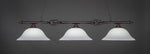 Toltec Elganté Dark Granite 3 Lights White Linen 863-DG-612