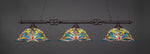 Toltec Eleganté Dark Granite 3 Lights DRAGONFLY Art Glass 863-DG-990
