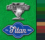 Championship Titan 8' Billiard Cloth Felt for sale online