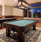 Drawknife Mountain Modern Custom Billiard Table in room