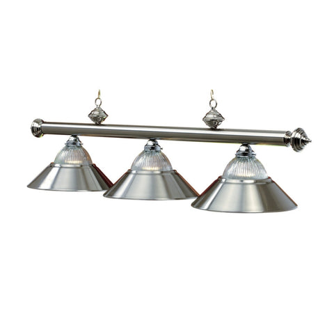 "3 Light - 54"" Billiard Light - Stainless Steel"