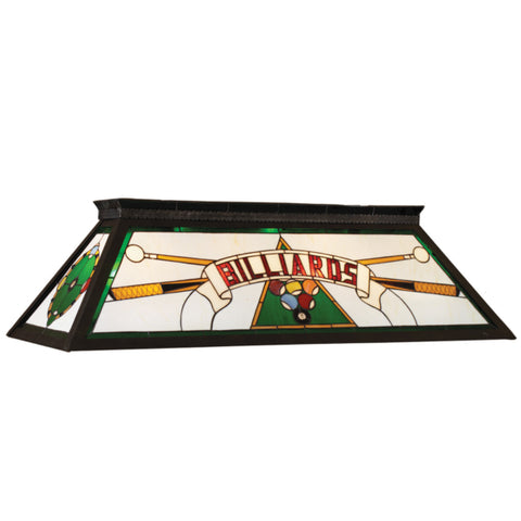"RAM 44"" Stained Glass Box Lamp (Green)"