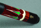 McDermott Pool Cue Malachite, Ebony, Ivory Inlays with i-Shaft G706