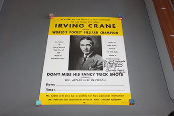 Irving Crane Pocket Billiards Poster for sale online