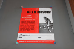 Willie Mosconi Billiards Poster for sale online