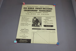 willie mosconi billiards poster