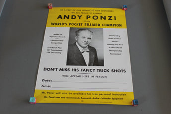 any ponzi billiard poster for sale online