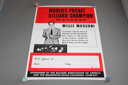 Willie Mosconi Pocket Billiards Champion Poster for sale online