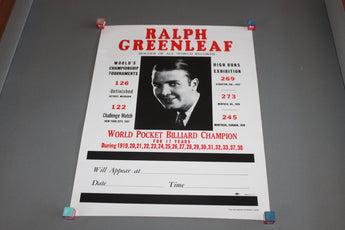 Ralph Greenleaf Billiard Champion Poster for sale online