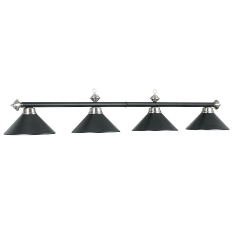 "78"" 4 Light Billiard Light - Matte Black/Stainless Steel"