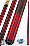 Viking A221Pool Cue Black Cherry Stain on Northwoods Maple V PRO Shaft red linen wrap cue stick