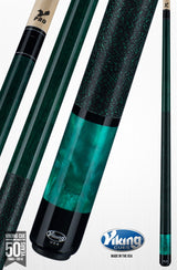 Viking Pool Cue A282 Jade Stain on Northwoods Maple w/ Green Pearl Sleeve pool cue stick with shaft