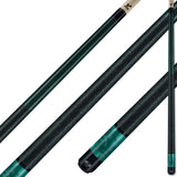 Viking Pool Cue A282 Jade Stain on Northwoods Maple w/ Green Pearl Sleeve for sale online