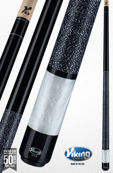 Viking Pool Cue A284 Black Stain on Northwoods Maple w/ Pearl Sleeve for sale with shaft