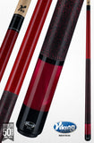 Viking Pool Cue A286 Crimson Stain on Northwoods Maple w/ Pearl Sleeve free shipping