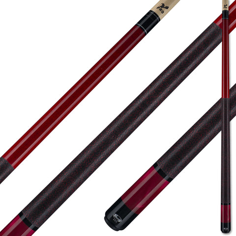 Viking Pool Cue A286 Crimson Stain on Northwoods Maple w/ Pearl Sleeve for sale online
