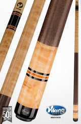 Viking Pool Cue A326 Khaki Stain on Birdseye Maple Exotic Wood Inlay Rings for sale free shipping