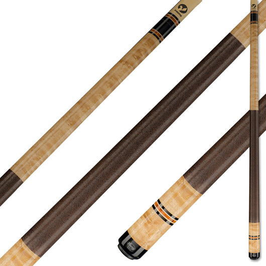 Viking Pool Cue A326 Khaki Stain on Birdseye Maple Exotic Wood Inlay Rings for sale online