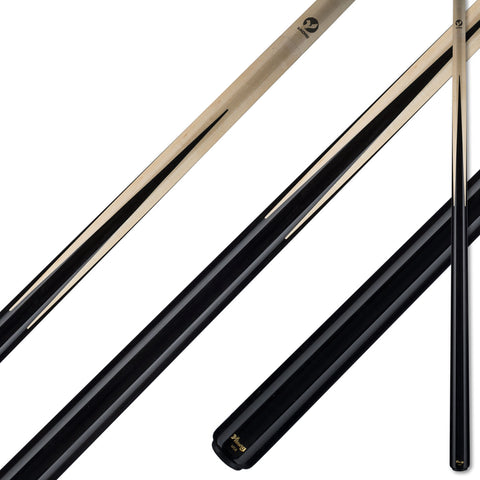 Viking Pool Cue A354 Black Stain Birdseye Maple Points on Northwoods Maple Forearm sneaky pete for sale online