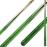 Viking Pool Cue A355 Emerald Stain Birdseye Maple Points on Northwoods Maple Forearm sneaky pete for sale online