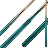 Viking Pool Cue A364 Jade Stain Birdseye Maple Points on Northwoods Maple Forearm teal sneaky pete for sale online