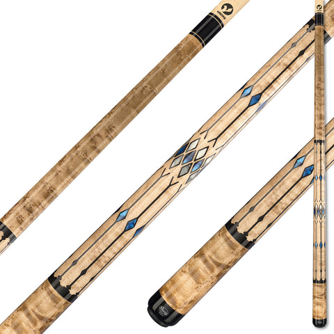 Viking A581 Khaki Stain on Birdseye Maple w/ Pearl Inlaid Diamonds