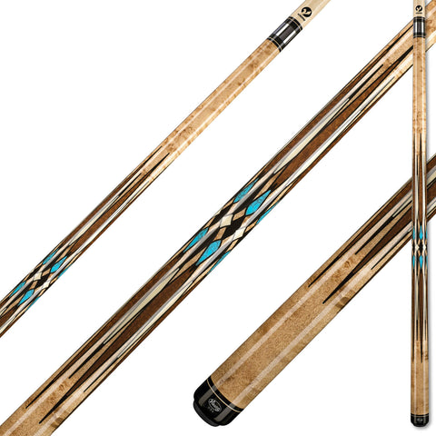 Viking A981 Khaki Stain on Birdseye Maple w/ Snakewood, Turquoise & IMA Ivory Inlays