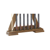 Brixton Pool Cue Wall Rack by Brunswick bottom detail