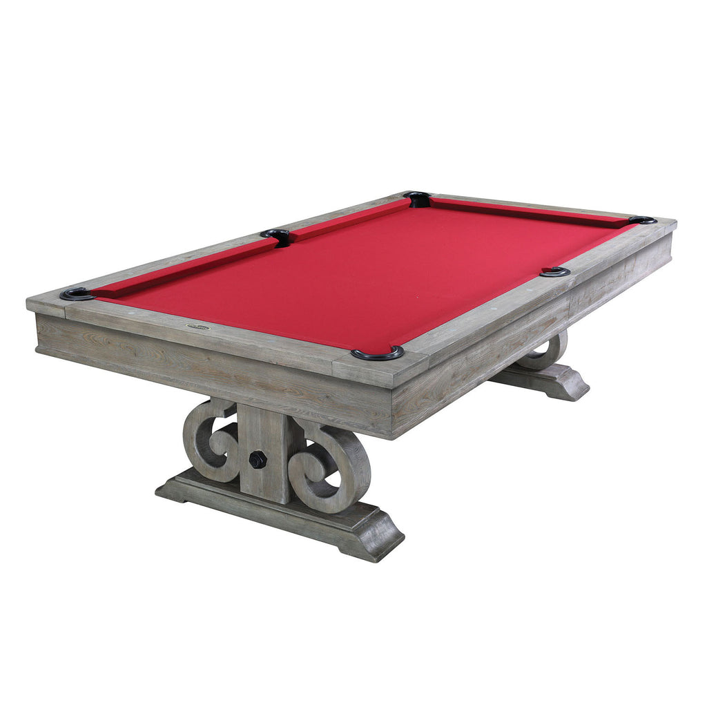 The Barnstable 8 Pool Table In Silver Mist Finish Dining