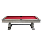 The Barnstable 8' Pool Table in Weathered Oak Finish By Imperial side